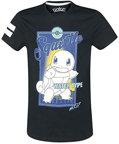 Pokemon Schiggy - City T-Shirt schwarz M