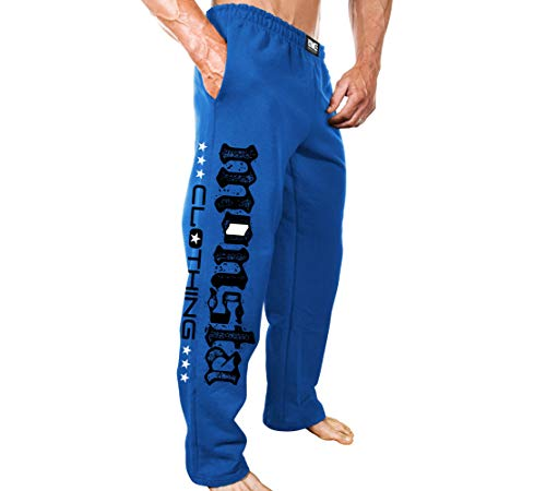 Monsta Clothing Co. Men's Bodybuilding (ES:MC-Monsta Flag) Gym Sweatpants (G:BL) Blue