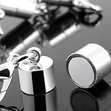 bracelet Brussels08 Lot de 5 fermoirs magn/étiques pour cha/îne de bijoux Fermoir mousqueton cylindrique Pour la fabrication de bijoux Al/éatoire collier