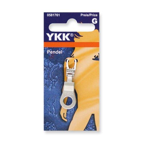 YKK 581761 Fashion-Zipper Pendel silber, 1 Stück
