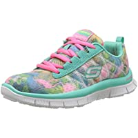 Skechers Skech Appeal-Floral Bloom, Zapatillas para Niñas, Multicolor (Aqmt), 33 EU