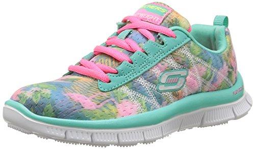 Skechers Mädchen Skech Appeal - Floral Bloom Sneaker, Mehrfarbig (aqmt), 33 EU