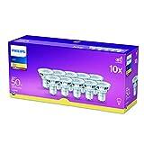 Philips Faretto LED, 10 Pezzi, Equivalente a 50W, Attacco GU10,...