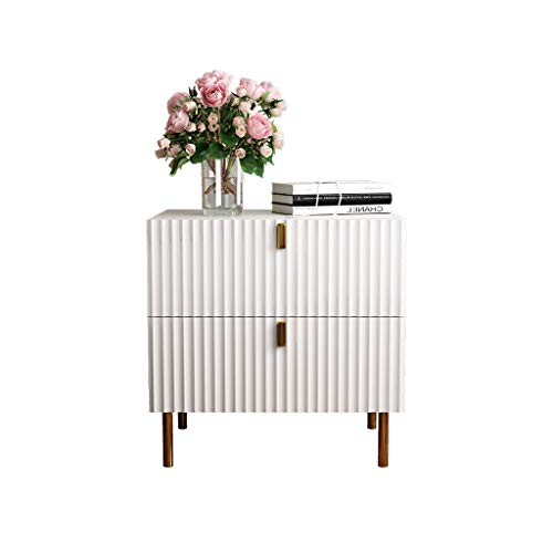 TXXM Nachttisch Schlafzimmer Spind, Schlafzimmer Nachttisch, Wohnzimmer Locker, Wohnzimmer Sofa Seitenschrank (Color : White)