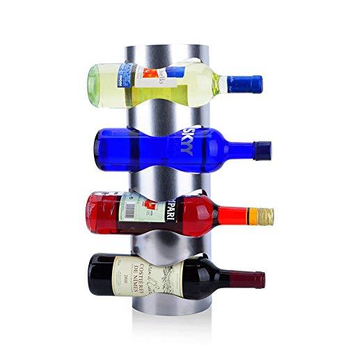 DAGONGREN Estante for Vino montado en la Pared - Porta Botellas de Vino Toallero, Estante for Porta Botellas de Vino 5 Estante Rack de Madera de Pared de Madera rústica No es Necesario ensamblar
