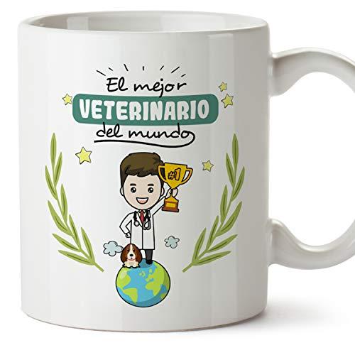 MUGFFINS Taza Veterinario (Mejor del Mundo) - Regalos Originales y Divertidos de Veterinaria