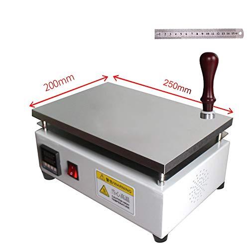 Hanchen kommerzielle BOPP Folien-Verpackungsmaschine Elektrische Cellophan Schrumpffolie mit konstanter Temperatur Heizplatte, 200 x 250 mm.