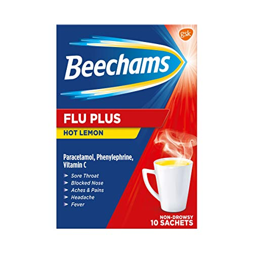 Beechams Cold & Flu Sachets, Pain & Congestion Relief Medicine with...
