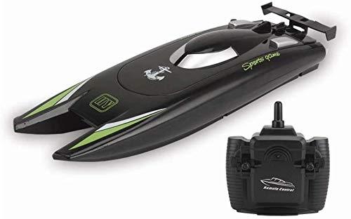 Paelf Juguetes de Agua para niños, Larga Resistencia, pequeño Modelo de Control Remoto Modelo de Barco rápido de Alta Velocidad, Modelo de Ciencia y educación de catamara, Apagado automático al Salir