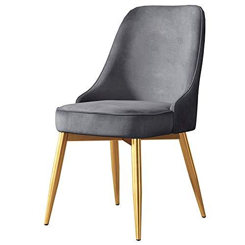 WSDSX Stuhl Stoff Esszimmerstühle Retro Lounge Stühle Samtsitz Hohe Rückenlehne Design Wohnzimmerstuhl Für Wohnzimmer Küche Büro Robuste Metallbeine Lagergewicht 150 kg (Farbe: Blau)