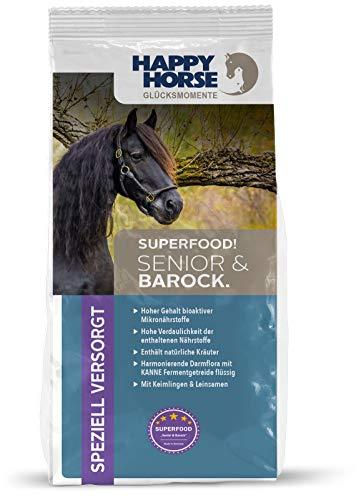Happy Horse Superfood Senior & Barock 2 x 14 kg - Das ideale Pferdefutter für Senioren. Hohe Vitalstoffdichte - geringe Fütterungsmenge.…