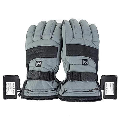 QMJHHW Heated Gloves 3.7V Rechargeable Battery Powered Electric Heated Winter Gloves for Skiing Cycling Motorcycle Smart Heating Gloves
