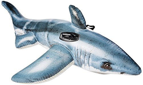 Product Image of the Intex Great White Shark Ride-On, 68' X 42', for Ages 3+