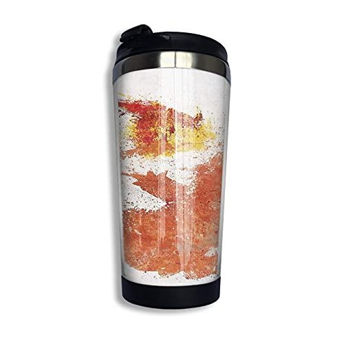 SHIJIAN Charmander Fire - Taza de café de acuarela de acero inoxidable con aislamiento al vacío, 13 onzas