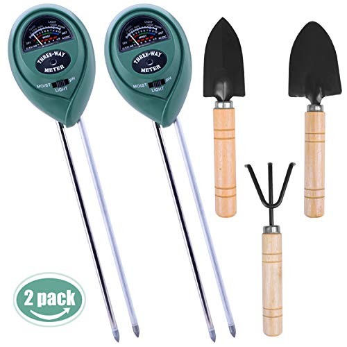 Longruner Soil Moisture Sensor Meter Tester, Soil Water monitor, Hydrometer for Garden, Farm, Lawn Plants (Soil Moisture Sensor Meter Tester 2 pack LKP01)