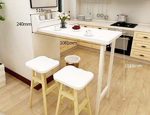 ZLP Tafel Bureau Computer Bureau Kids Tafel Opvouwbare Eettafel Kruk Combinatie Huishoudelijke Woonkamer Hoge Tafel Effen Hout Eenvoudige Bar Tafel Creatieve Koffietafel Table