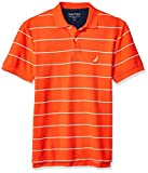 Nautica Men's Stripe Deck Anchor Polo, Spicy Orange, Medium