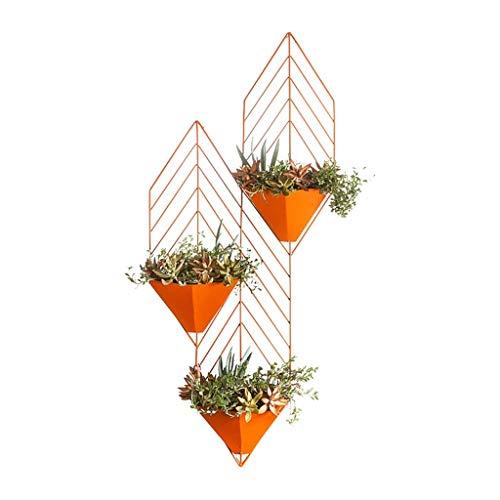 Bloemen Frame/Outdoor Plant Stand / 3 Tier Bloem Muur Mount Decoratieve Metalen Gekleurde Plant Stand Jar voor Metaal Ijzer Bloemenpot Plank voor Patio (HXWXD 71X30X9CM)