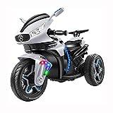 Kedorle Los niños Pueden Montar en un Juguete de Moto de 3 Ruedas Juguetes para automóviles con Luces LED, Caja de música, operada por batería 12V, Mejor Juguete de Regalo para niños.