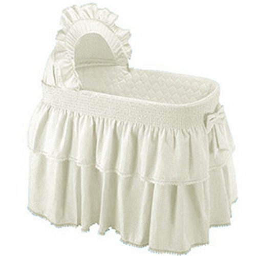 Baby Doll Bedding Neutral Paradise Bassinet Bedding Set for boy and girly, Ecru (BASSINET NOT INCLUDED).