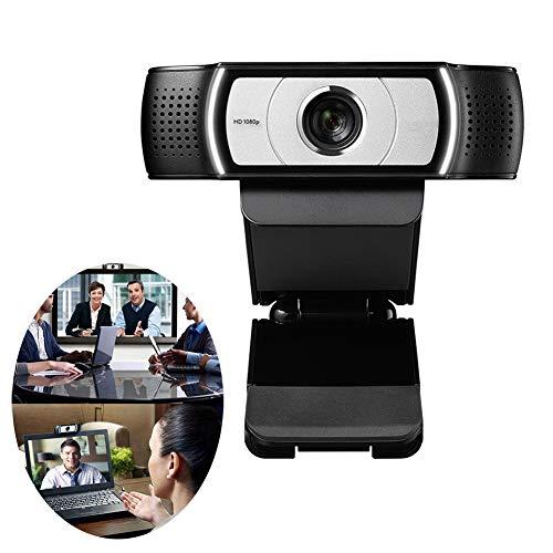 HHORD C930e Prohd Webcam con Privacidad Cubierta, Cámara Web USB para Transmisión En Vivo, De Escritorio Y Portátil Webcam, Micrófono Incorporado