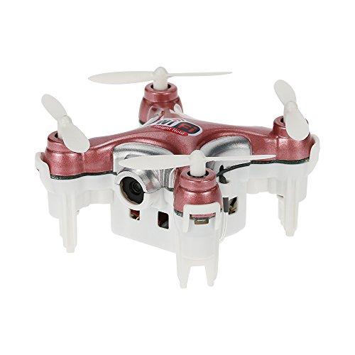 MeterMall Mini Drone Chevers CX-10WD-TX 2.4GHz 4CH 6 Ejes WiFi Quadcopter 3D Eversion con cámara de 0.3MP Rosa sin Mando a Distancia