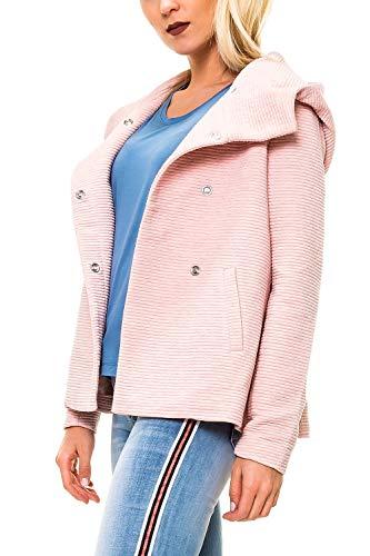 ONLY Damen Kurzmantel mit Kapuze Übergangsjacke (S, Colour 8)