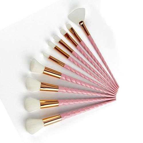 Yener 10st Make-upborstels Set Cosmetische borstel Kristal Spiraal Oogschaduw Eyeliner Wimperpoeder Make-up gereedschap, Grijs