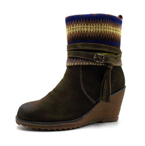 Tamaris - Keilstiefelette - 1-25412-29 Olive EUR 40 | Schuhe > Stiefeletten > Keilstiefeletten | Tamaris