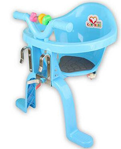 Xihaoer Asiento de Bicicleta Infantil montado en el Frente Sillas Colgantes de plástico Asiento de Bicicleta Infantil para bebé (Azul)