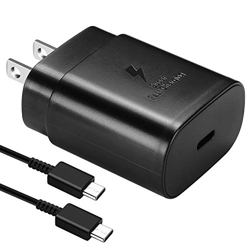USB C Charger-25W Fast Wall Charger for iPad Pro 12.9, 11,Google Pixel 4/3/2/XL,Samsung Galaxy Note10/10+/S10, Pixel 3A XL 2XL 3XL 4XL,Galaxy S9/ S8/ Plus/Note 8/9 with Type-C Cable