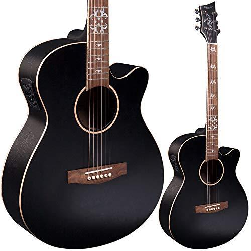 Lindo Black Fire SE elektroakustische Gitarre mit Blend-Vorverstärker