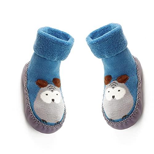 YepYes 11 cm de bebé Antideslizantes Calcetines Zapatos Botas Transpirable de algodón de Dibujos Animados del Deslizador de los Calcetines para los niños, niños, recién Nacidos-Blue Home Accesorios