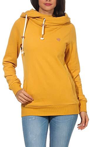 Aiki Keylook Damen Hoodie Kapuzen-Sweatshirt Who Way 192-12-1023 Mustard L