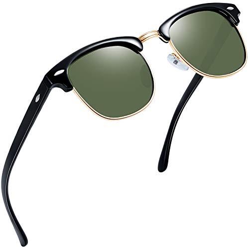 Joopin Semi Rimless Polarized Sunglasses Women Men Retro Brand Sun Glasses (G15)