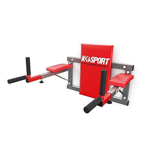 K-Sport: Dip Station zur Wandmontage I Kraftstation mit Dip-Stange I Barren zur Ausführung von Dips & Bauchübungen I Professionelle Fitnessgeräte für Zuhause