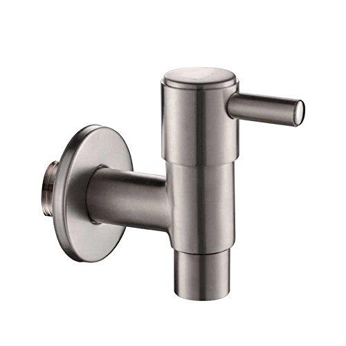 seule poignée support mural robinet robinet d'eau 1/5,1 cm PT en acier inoxydable pour linge de salle de bain Jardin