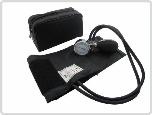 Blutdruckmessgerät Aneroid Pulsmessgerät mit Klettmanschette und Etui *Top-Qualität zum Top-Preis*