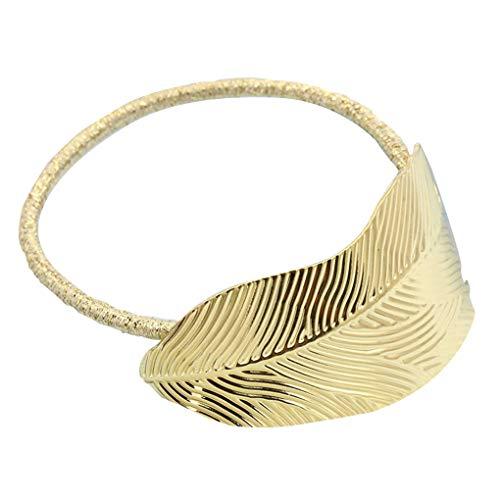 Yosiyo 2pcs Femmes Dame Feuille Bande de Cheveux Corde Bandeau Titulaire de Queue de Cheval élastique