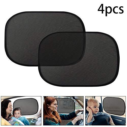 Beito 4PCS Car Window Shade Cling Pare-Soleil pour Le côté et arrière de Windows Sun Shades Protection aux Rayons UV 19inchx12inch
