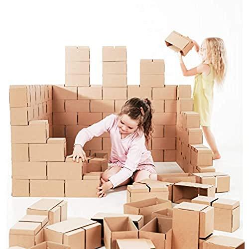 GIGI Bloks - Bloques de Construcción Gigantes de Cartón, Juegos de Construcción para Niños 60 Piezas XXL, Kits de Ladrillos Para Grandes Construcciones Infantiles de Castillos y Torres Grandes