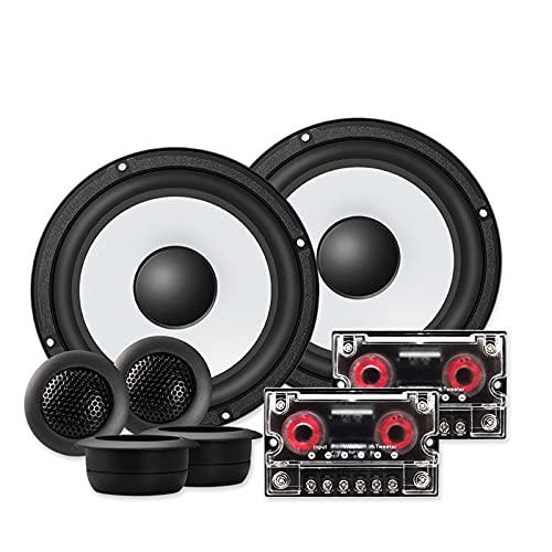 XINXI-YW Haut-parleurs Bluetooth Système de Haut-parleurs de la composante de Voiture 6.5 Pouces 2 Voies Porte de véhicule Automobile stéréo stéréo Set HiFi avec Tweeter Crossover