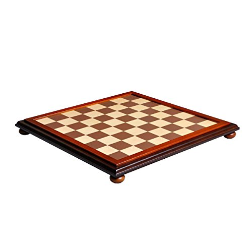 The House of Staunton Walnut and Maple Classic Traditional Chess Board - 2.25' Squares