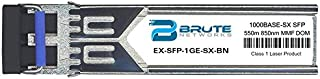 Brute Networks EX-SFP-1GE-SX-BN - 1000BASE-SX 550m MMF 850nm SFP Transceiver (Compatible with OEM PN# EX-SFP-1GE-SX)