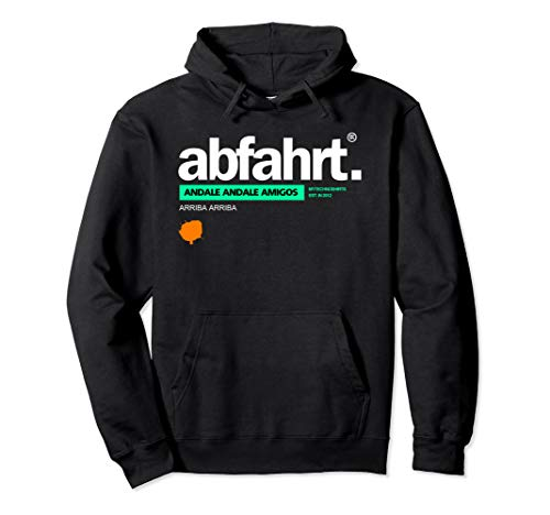abfahrt. | Rave Festival Techno Pullover Hoodie
