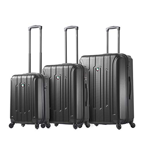 Mia Toro Italy Crosetti Hardside Spinner Luggage 3pc Set-Gold, Black