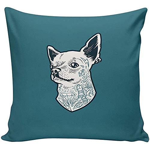 Kussensloop 45 * 45cm Diamond Ocean Wave Tattoo Puppy Kussensloop Satijn Stof Home Decoratieve Kussensloop Kussensloop
