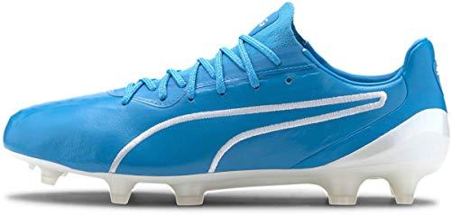 PUMA - Mens King Platinum Fg/Ag Shoes, Size: 12.5 D(M) US, Color: Luminous Blue/Puma White