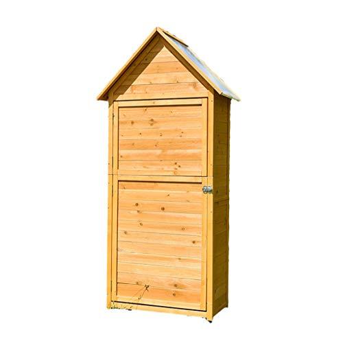 Garden Storage Sheds,Outdoor Storage Shed, Lockable Fir Wood Garden Tool Storage Cabinet with Galvanized Sheet Roof for Garden, Yard