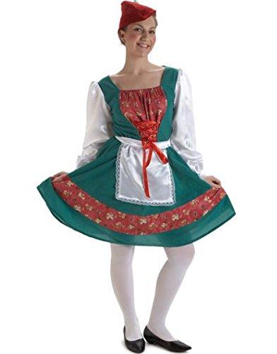 Disfraz Tirolesa lujo (Talla Unica)